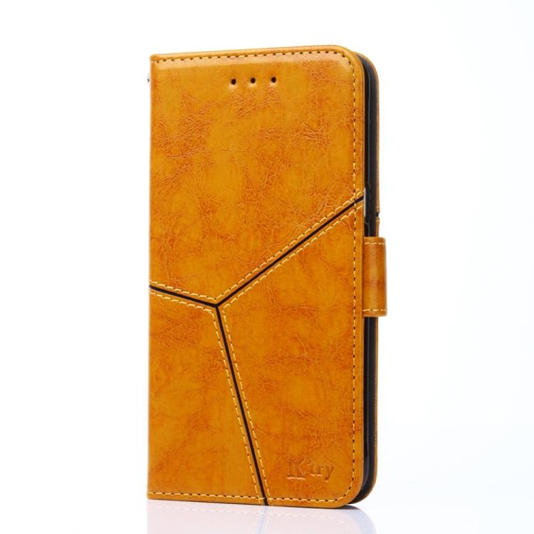 Чехол-книжка Geometric Stitching для Xiaomi Redmi 9T/Poco M3 - золотой