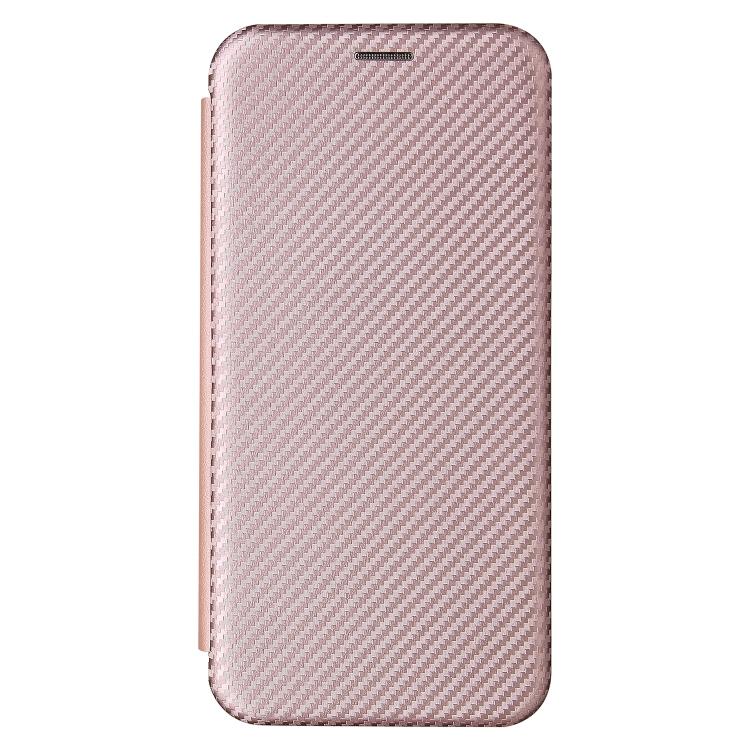 Чехол-книжка Carbon Fiber Texture на Xiaomi Mi 11 Lite - розовый