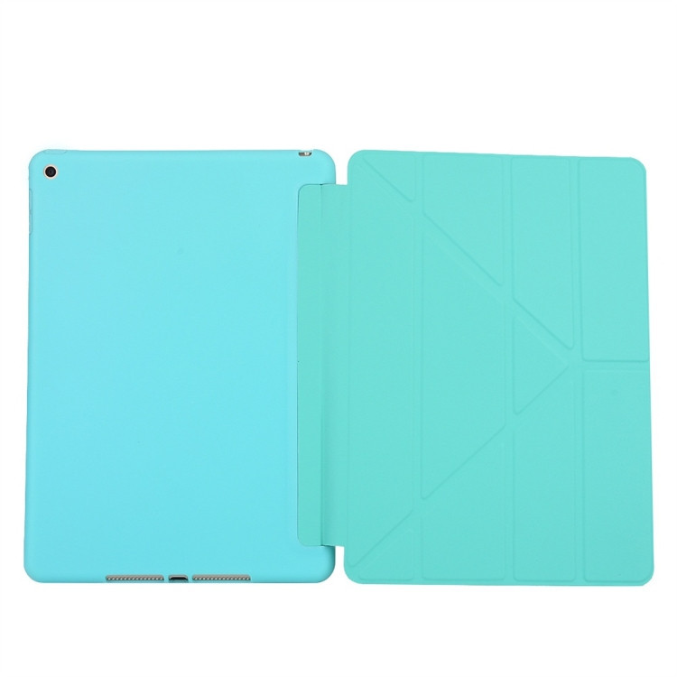 Чехол- книжка Solid Color Trid-fold Deformation Stand на Айпад 8/7 10.2 (2019/2020) -зеленый