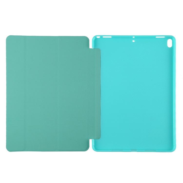 Чехол- книжка с силиконовым держателем на Айпад Эйр 3 2019-мятно-зеленый