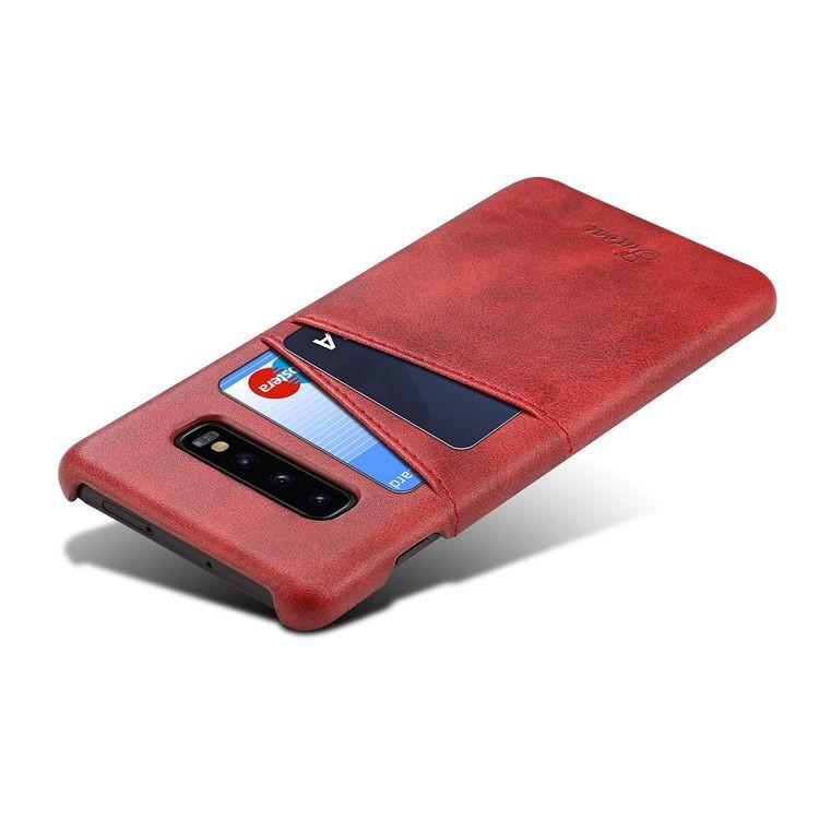 Красный чехол накладка красного цвета для Самсунг Гелекси С10 Плюс