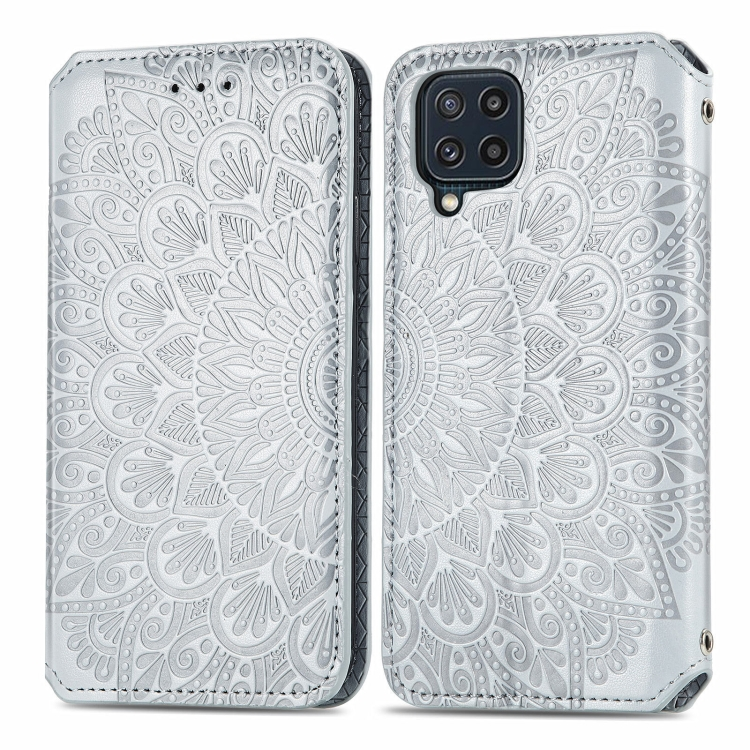 Чехол-книжка Blooming Mandala для Samsung Galaxy M32 - серый