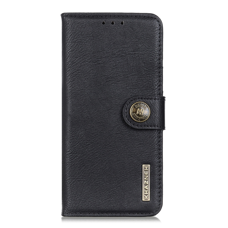 Чехол-книжка KHAZNEH Cowhide Texture на Samsung Galaxy A21s - черный