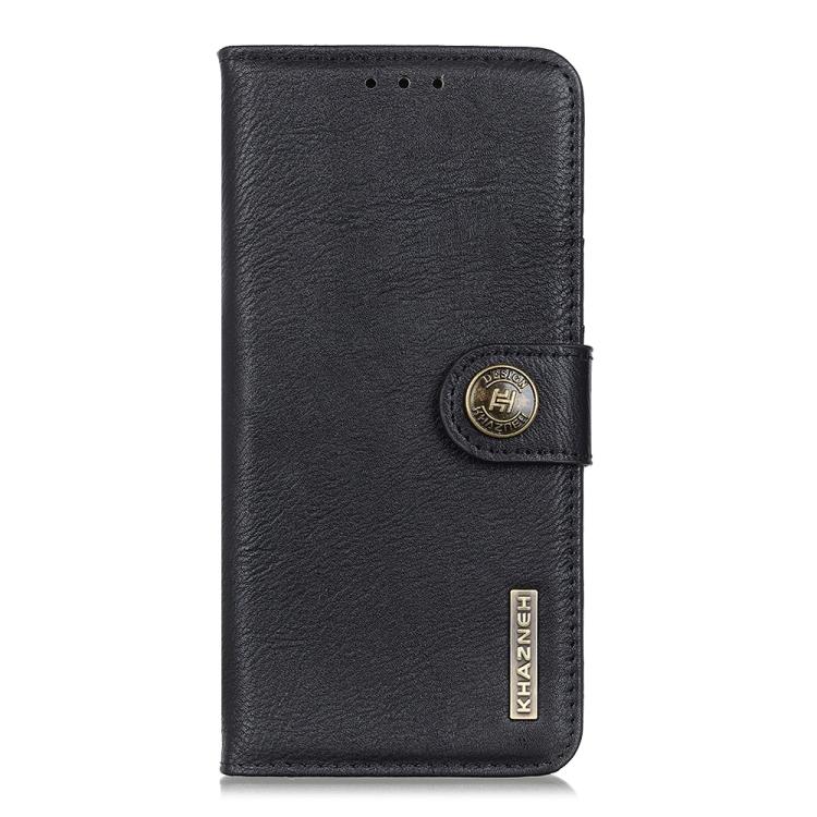 Кожаный чехол-книжка черного цвета на Самсунг Гелекси А72