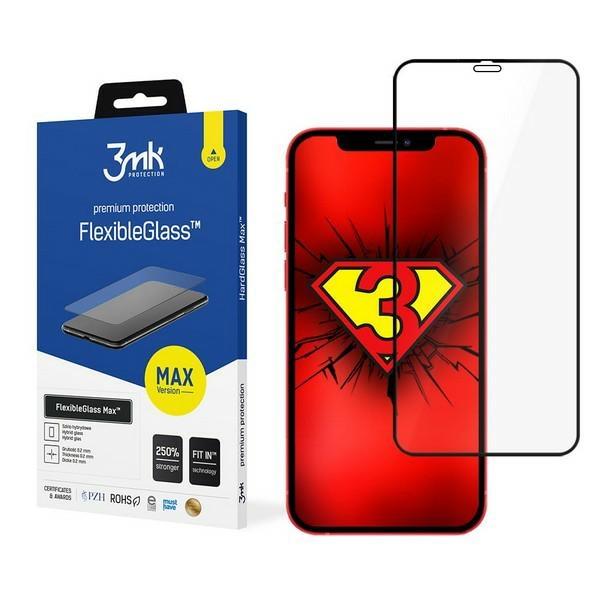 Защитное ударостойкое стекло с черной рамкой для Айфон 12 Мини