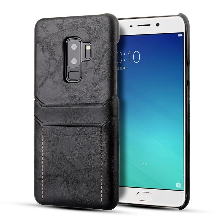 Кожаный чехол Calf Texture на Samsung Galaxy S9 / G960 - черный