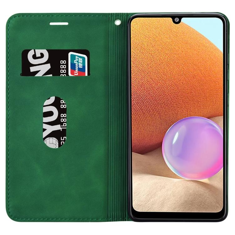 Чехол-книжка зеленого цвета на Самсунг Галакси A32