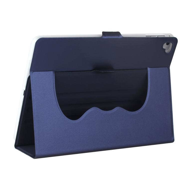 Синий ударостойкий чехол-книжка с складной подставкой для Айпад Аир 2