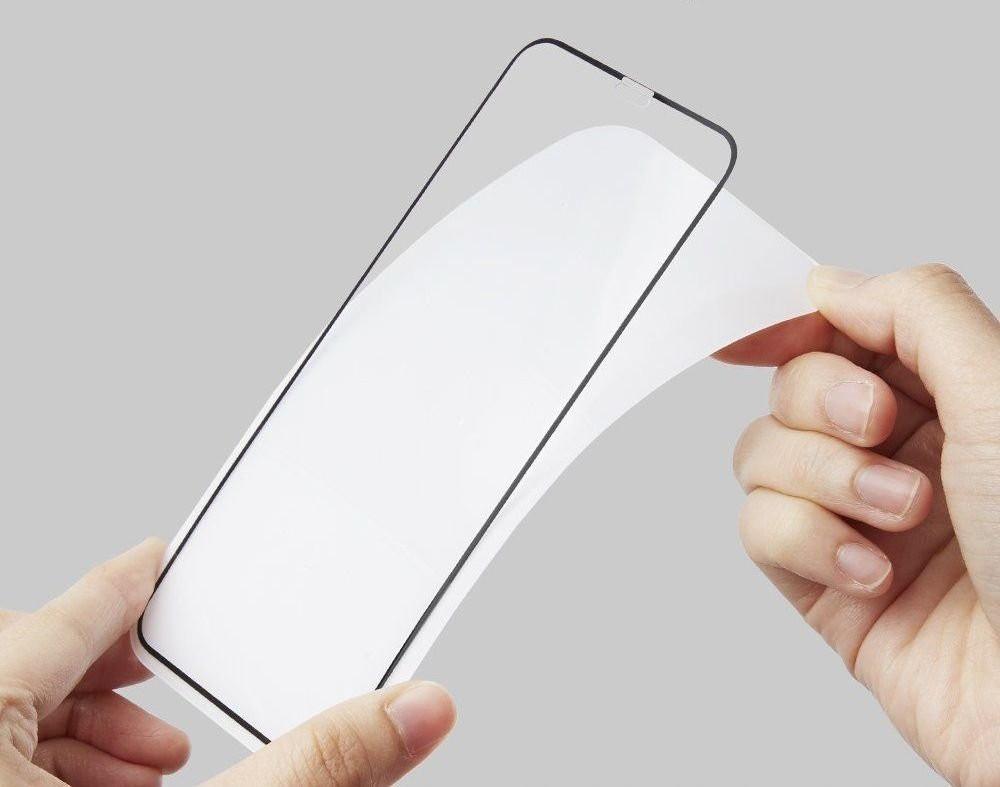 Каленое стекло Spigen Fc на Айфон 11/Xr Black