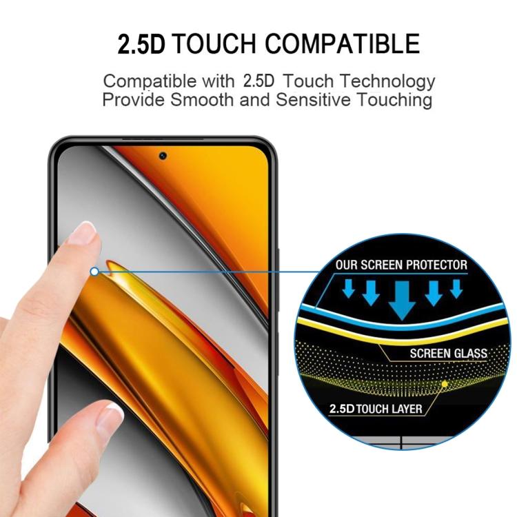 Защитное стекло  для Ксяоми Ми 11i/Poco F3/Redmi K40/K40 Про - черный