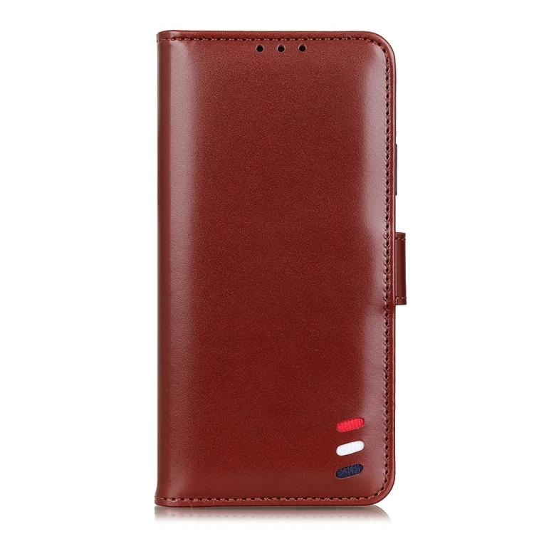 Чехол-книжка 3-Color Pearl на Realme 7 Pro - коричневый