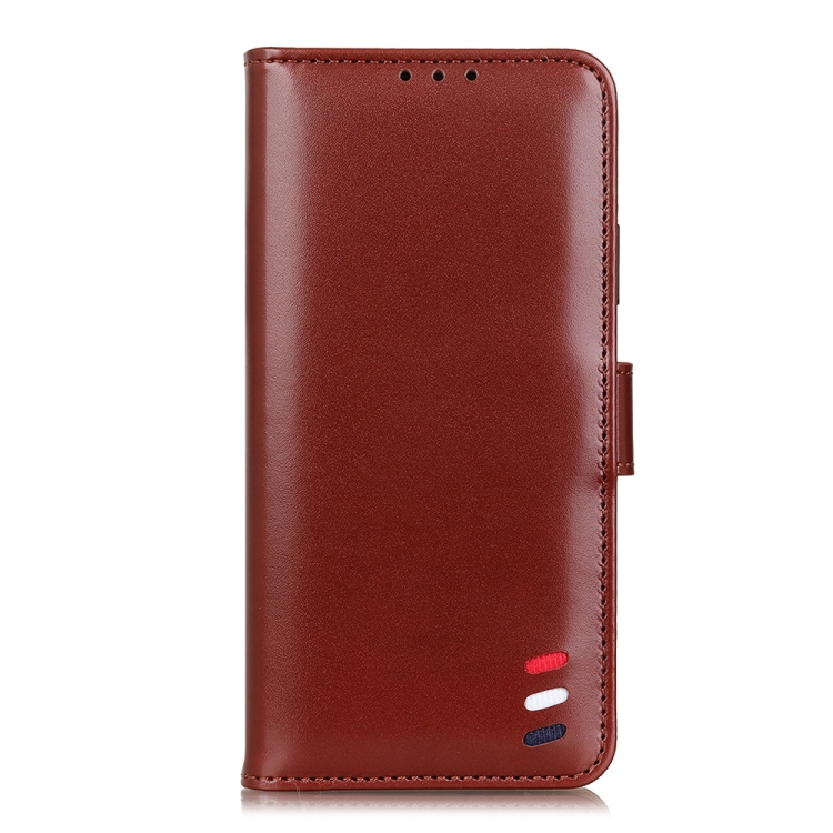 Чехол-книжка 3-Color Pearl на Xiaomi Redmi Note 10 5G - коричневый