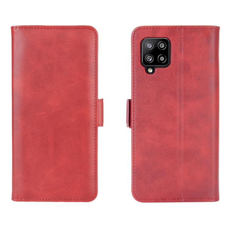 Чехол-книжка Dual-side Magnetic Buckle для Samsung Galaxy A42 - красный