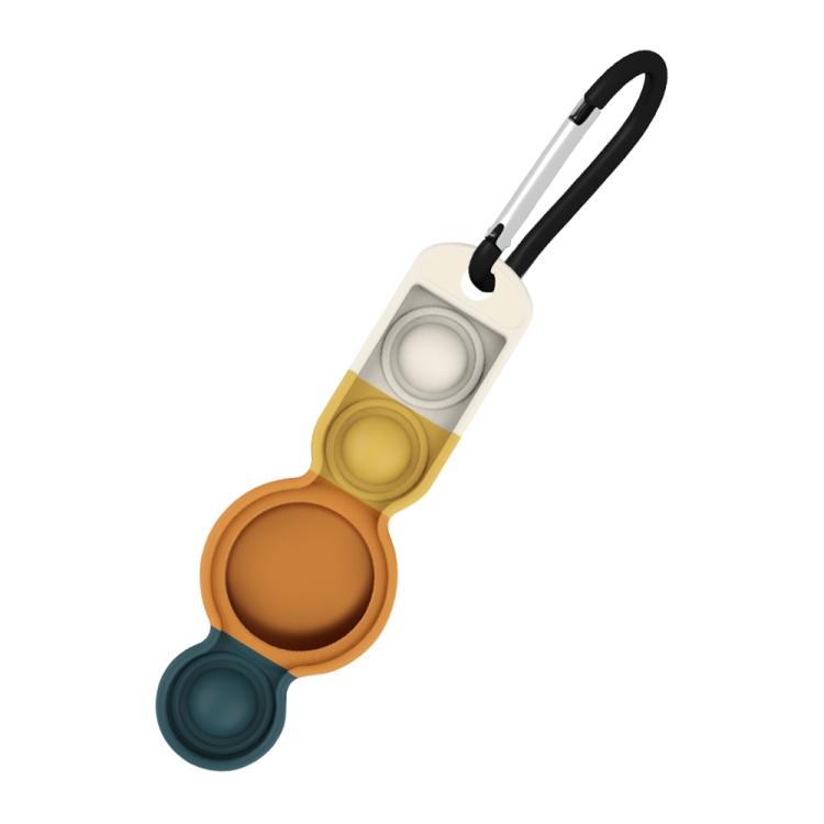Брелок Color-contrast с карабином для ЭйрТег - оранжево-зеленый