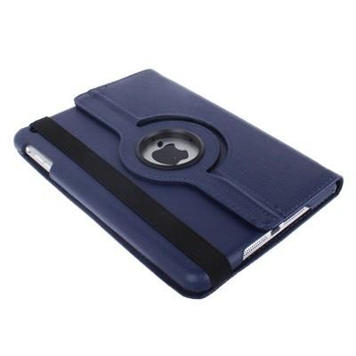 Кожаный Чехол 360 с кпрутящимся элементом темно-синий для iPad mini 1 / 2 / 3