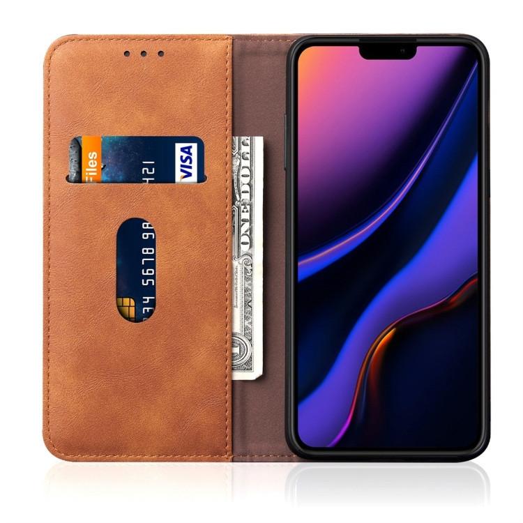 Оранжевый чехол-книжка с слотами под кредитки на Айфон 11 Про Макс