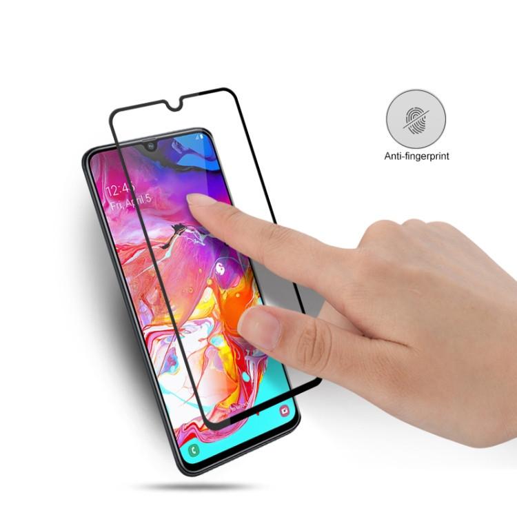 Защитное стекло mocolo 0.33mm 9H 3D Full Glue Silk Print на Самсунг Галакси A70, Support Fingerprint Unlock-черное