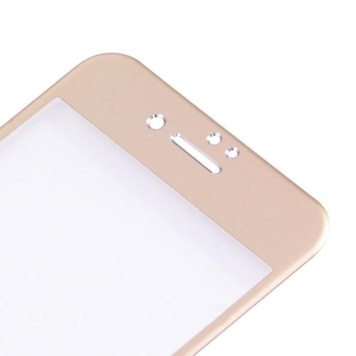 Защитное 3D Стекло на весь Экран Enkay 0.26mm 9H Titanium Alloy Золотое для iPhone SE 2020/8/7