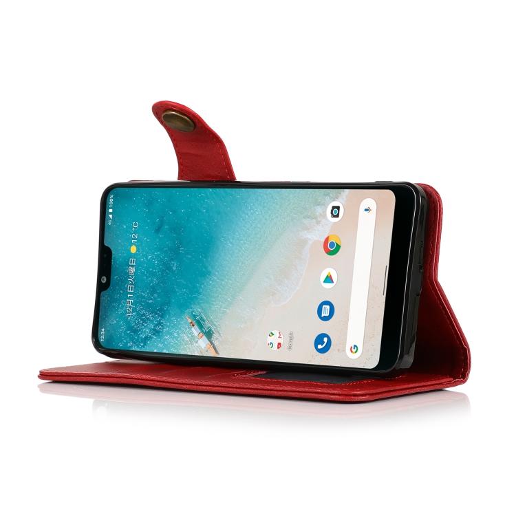 Чехол-книжка для Ксяоми Ми 11 Лайт 4G / 5G - красный