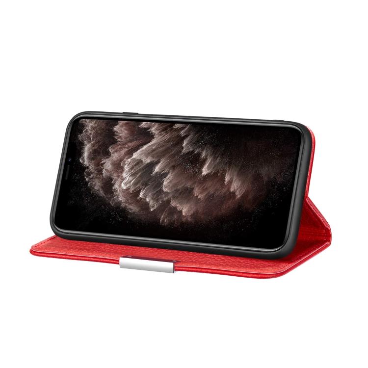 Красный чехол-книжка с подставкой для Айфон 12 Про Макс
