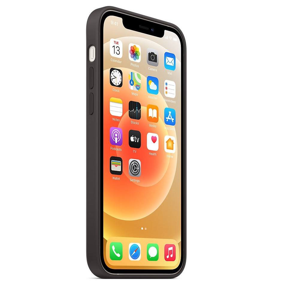 Черный силиконовый чехол накладка для Айфон 12