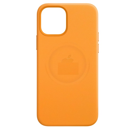 Кожаный Чехол Leather Case MagSafe California Poppy для Айфон 12 Мини