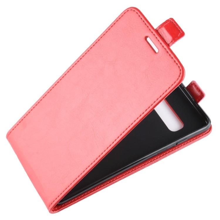 Кожаный флип-чехол Business Style на Самсунг Галакси S10 Плюс/G975-красный