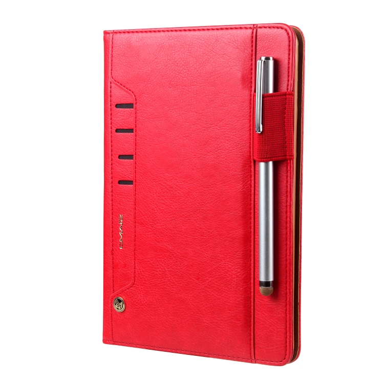 Красный кожаный чехол-книжка для Айпад Мини 4