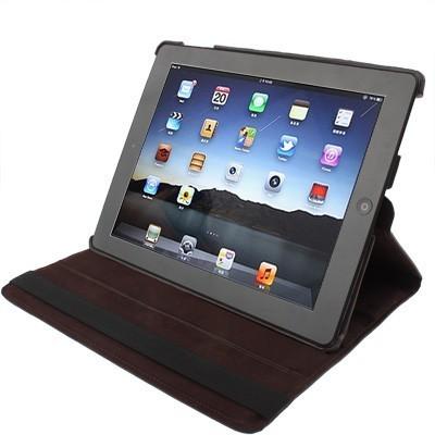 Чехол 360 Degree Rotatable Sleep / Wake-up кофейный для iPad 2/ 3/ 4