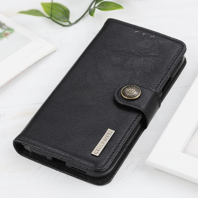 Чехол-книжка KHAZNEH Cowhide Texture на Samsung Galaxy S20 FE - черный