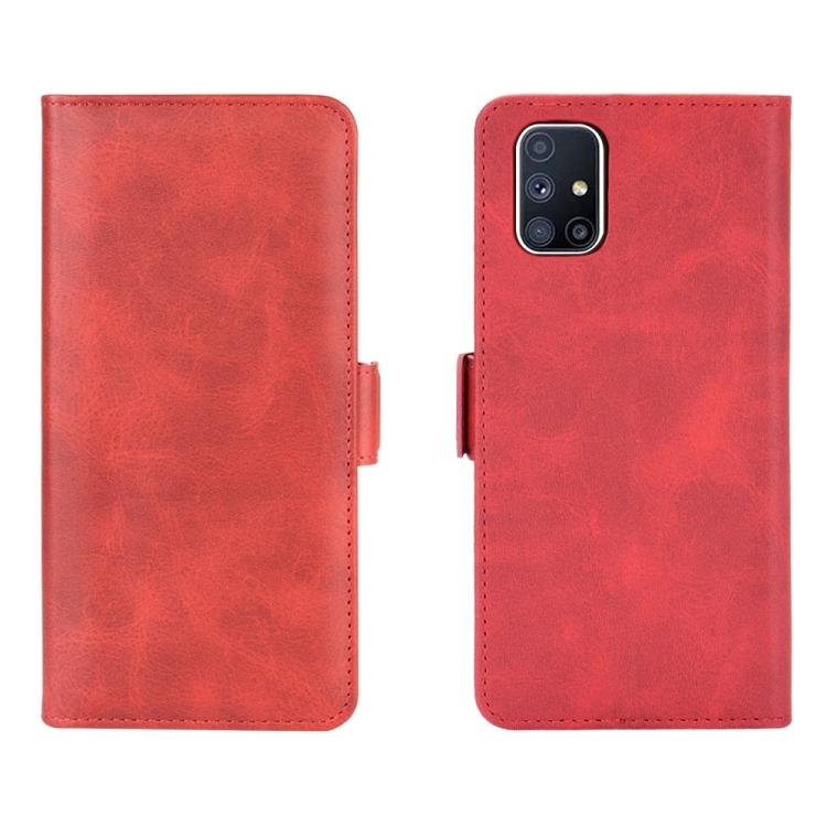 Красный чехол-книжка с слотами под кредитки на Самсунг Гелекси М51