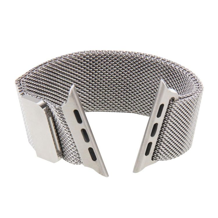 Браслет из нержавеющей стали Milanese Loop Magnetic для Apple Watch 38/40mm - серебристый