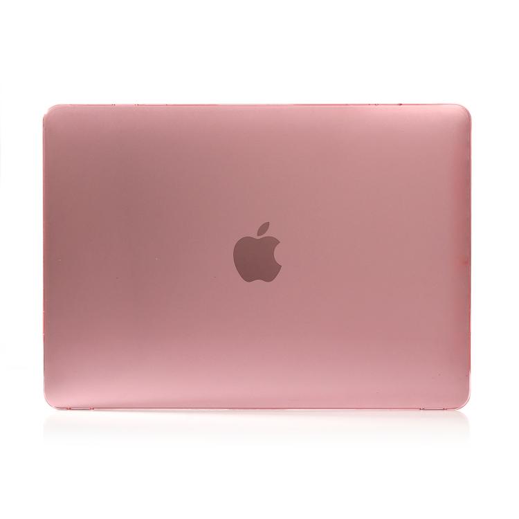 Защитный кожаный чехол на Макбук Про 16 розового цвета