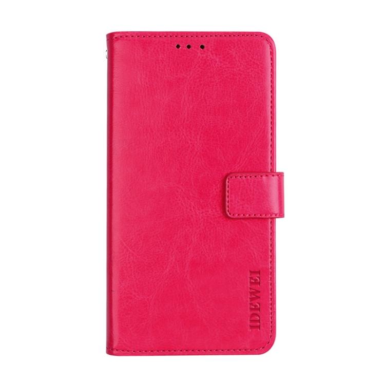 Чехол-книжка idewei пурпурно-красного цвета на Xiaomi Mi 11 Ultra