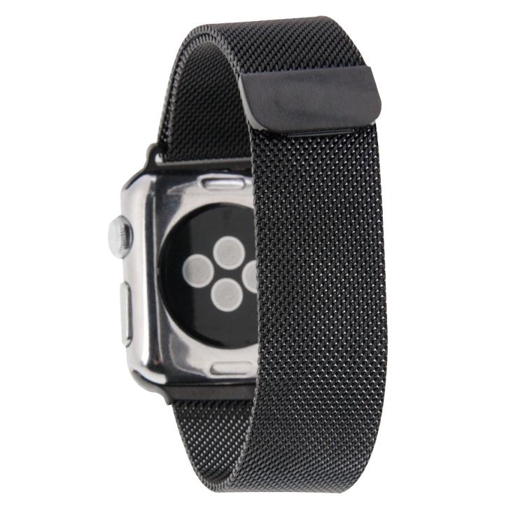 Браслет из нержавеющей стали Milanese Loop Magnetic для Apple Watch 38/40mm - черный