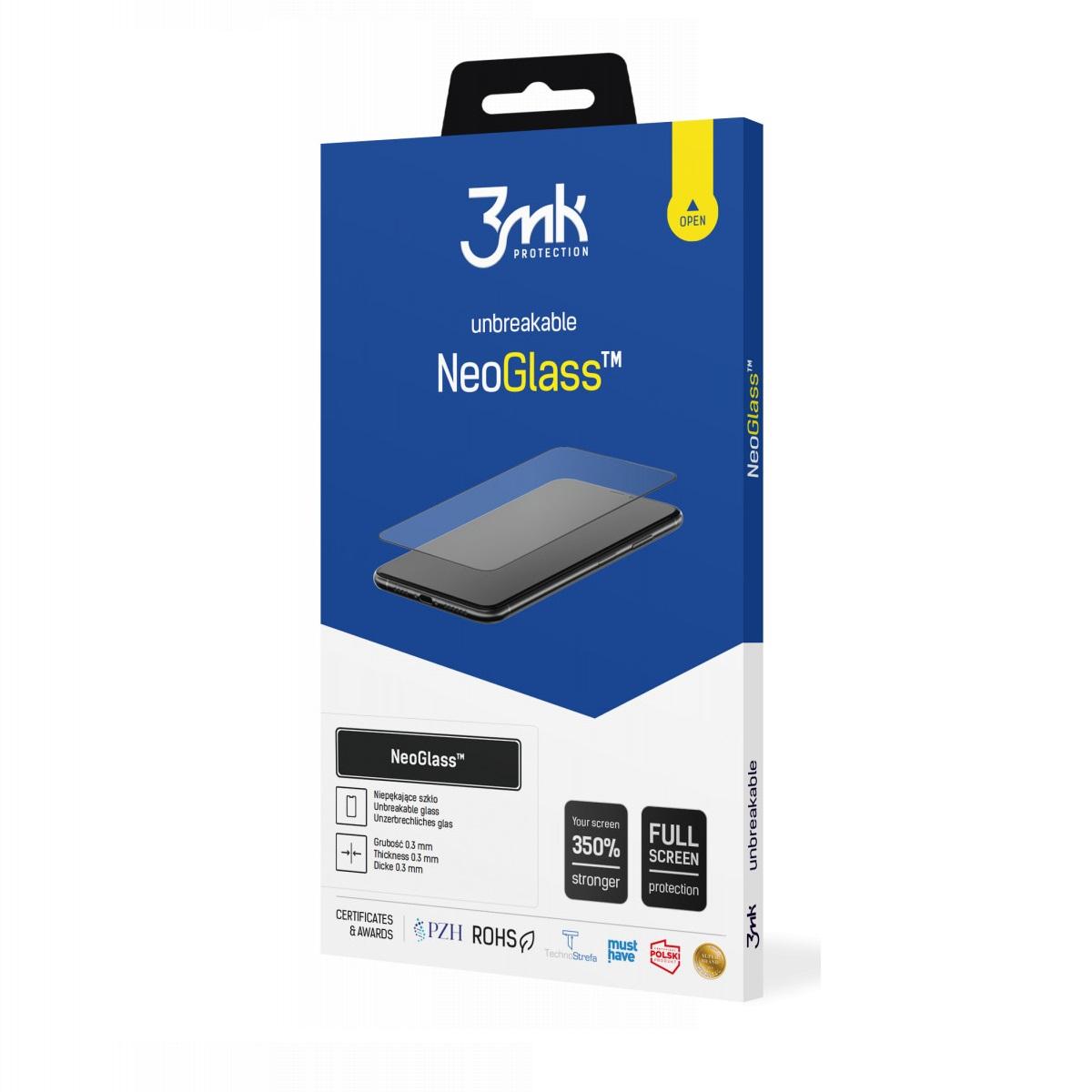 Защитное стекло 3MK NeoGlass для Айфон 12 Про Макс- черное