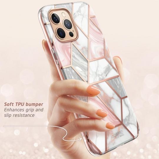Двухсторонний чехол Supcase Cosmo для iPhone 12 Pro / iPhone 12 Marble