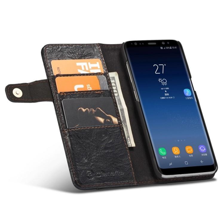 Черный чехол-портмоне на Самсунг с8+