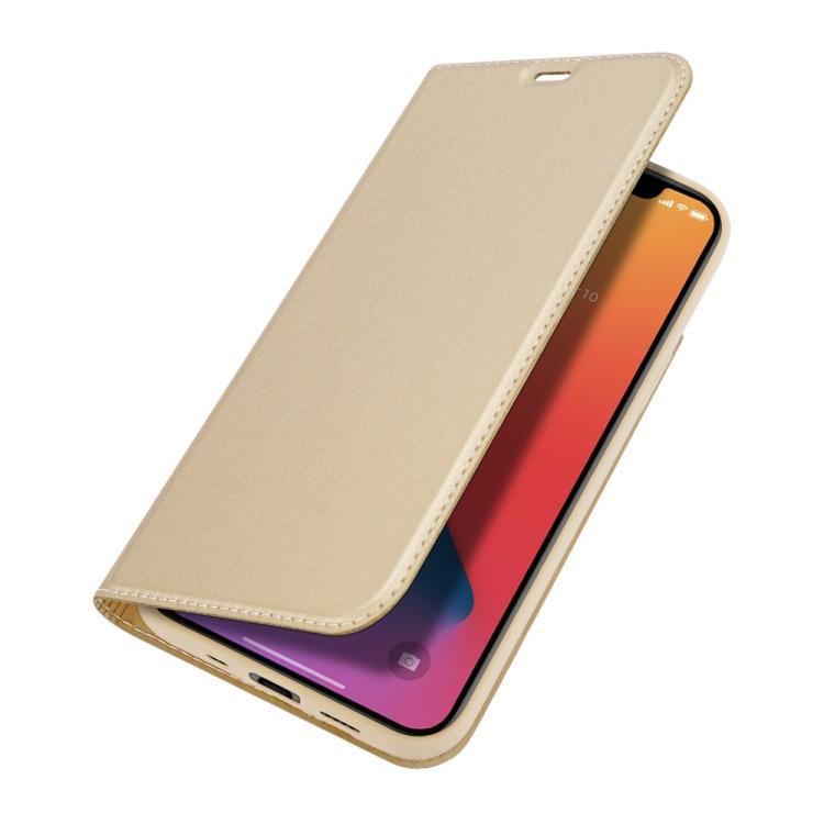 Золотой чехол-книжка DUX DUCIS на Айфон 12 Мини