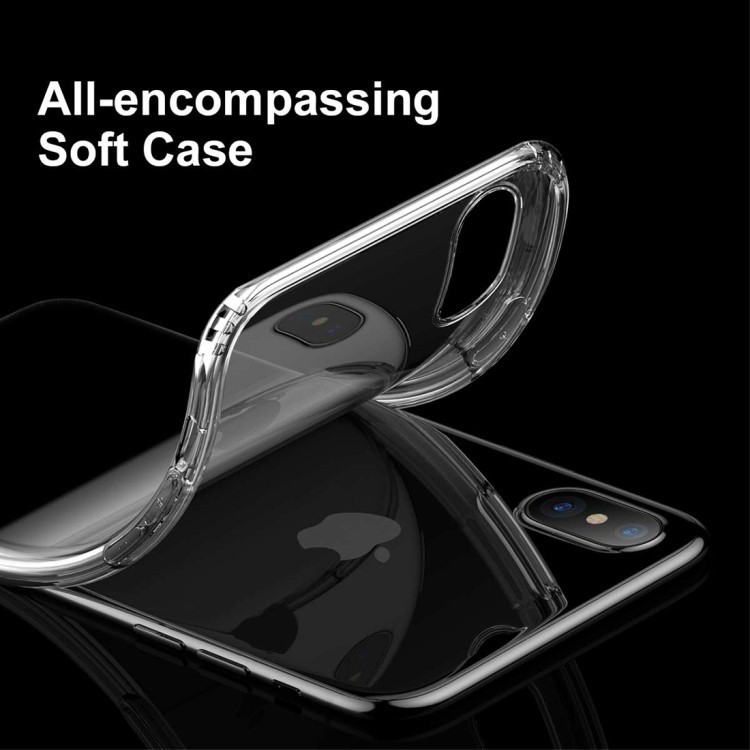 TPU чехол Baseus на iPhone X/Xs черно-прозрачный