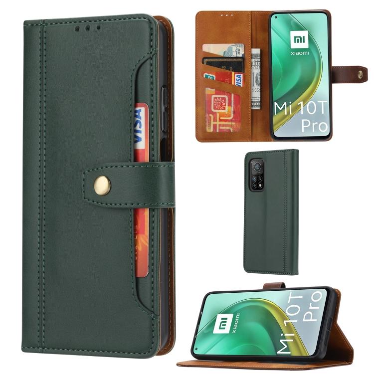 Чехол-книжка кожаный зленого цвета для Сяоми Ми 10Т зеленый