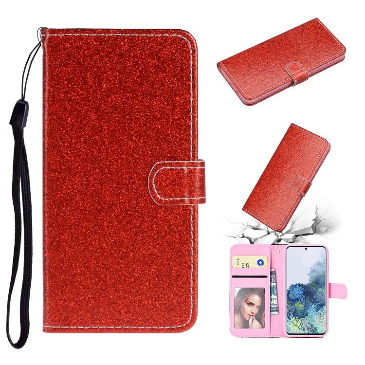 Чехол-книжка Glitter Powder на Samsung Galaxy A31 - красный