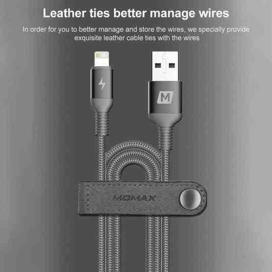Кабель MOMAX DL11S 2.4A Link Nylon 1.2m для iPhone - серебристый