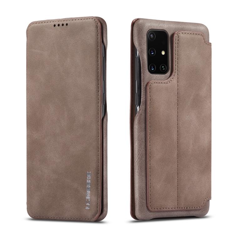 Чехол-книжка LC.IMEEKE Hon Ancient Series на Samsung  Galaxy A51 / M40S -кофе