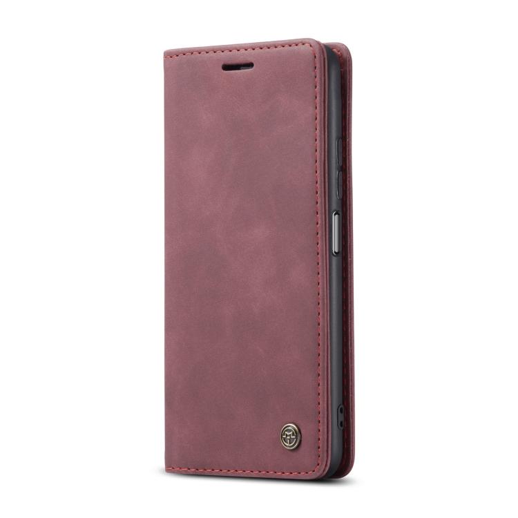 Чехол-книжка CaseMe 013 Series на Xiaomi Redmi Note 10 Pro / Note 10 Pro Max - бордовый