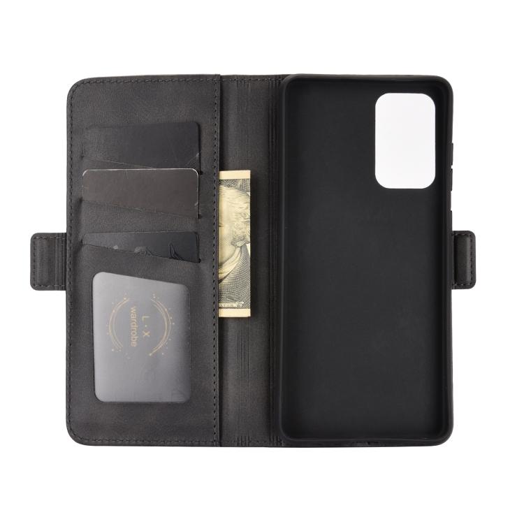 Чехол-книжка Dual-side Magnetic Buckle для Самсунг  A72 - черный