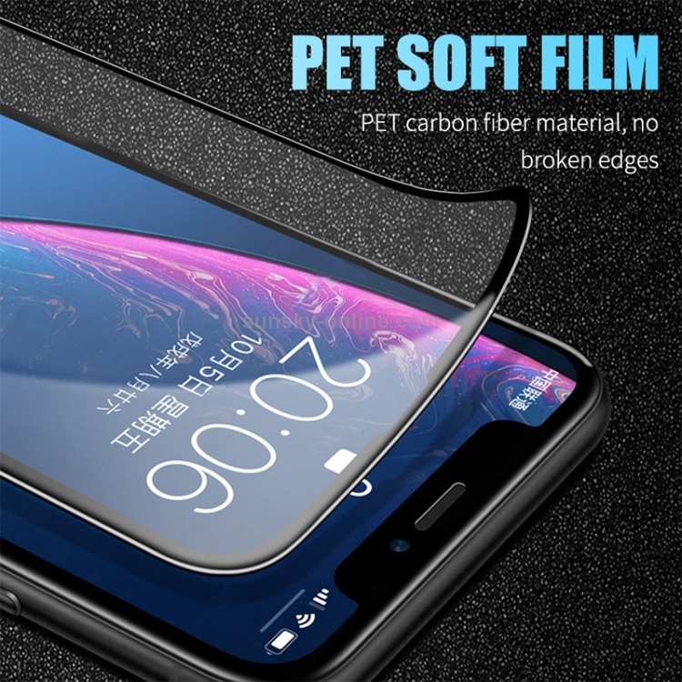 Защитное гибкое стекло 3D Full Glue на iPhone 12/12 Pro - черное
