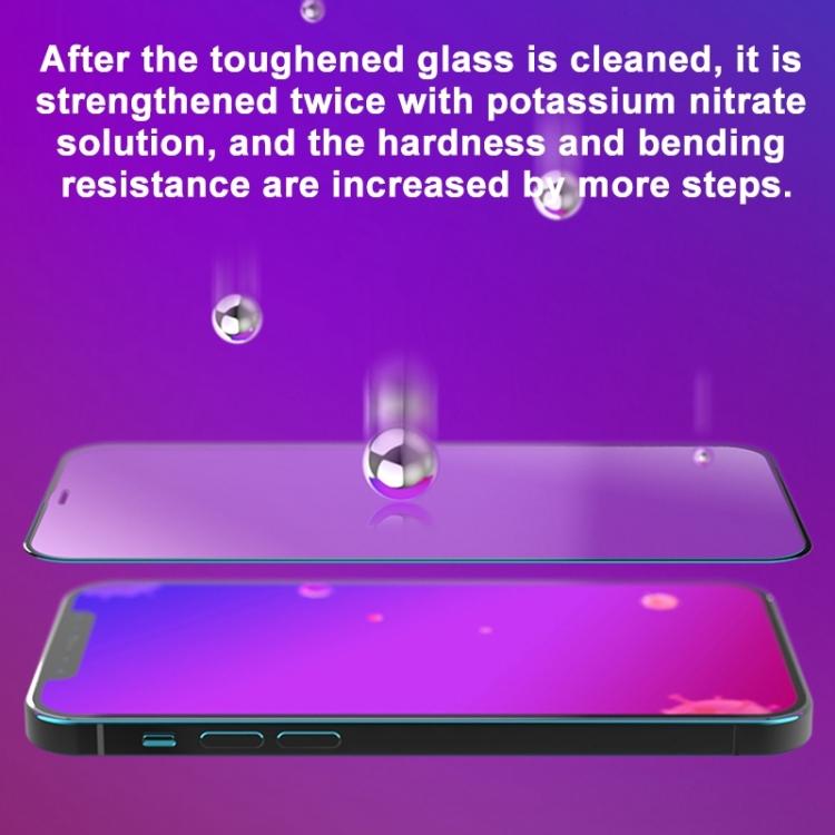 Защитное антибактериальное стекло MOMAX Anti-bacterial Reinforced на Айфон 12 Mini - черное