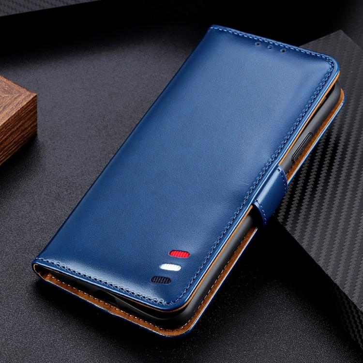 Чехол синего цвета с слотами под кредитки  на Самсунг Гелекси S20 FE
