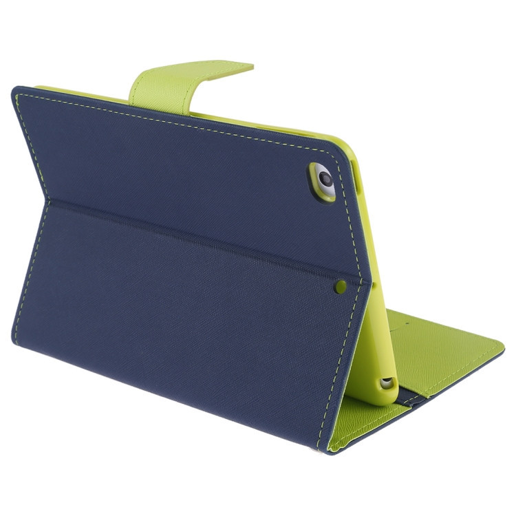 Чехол-книжка с складной подставкой для Айпад мини 5 зелено-синего цвета